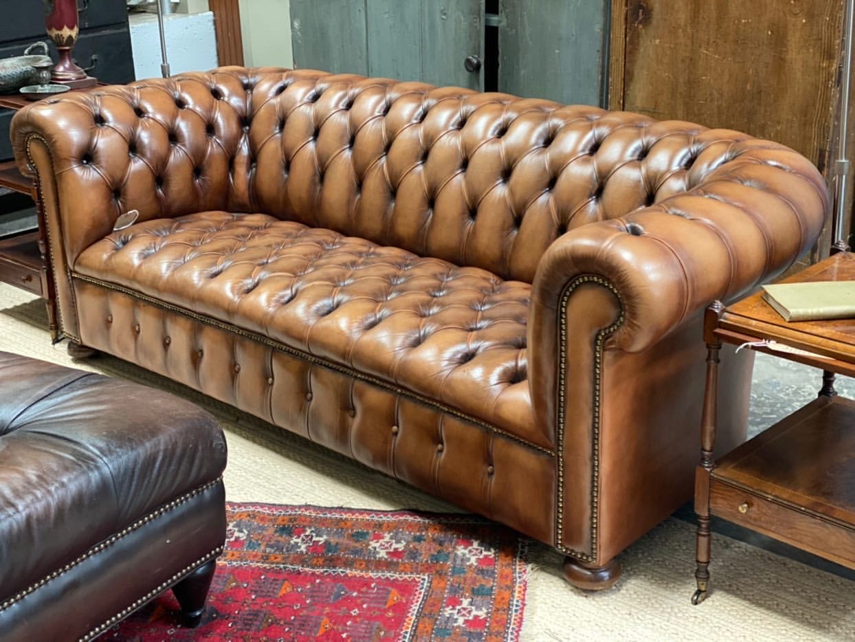 Antique English Chesterfield Sofa c. 1920s