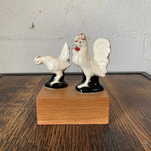Vintage Chicken and Rooster Salt & Pepper Shakers