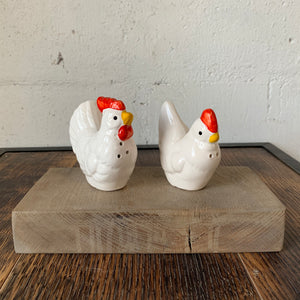 Vintage Chicken Salt & Pepper Shakers