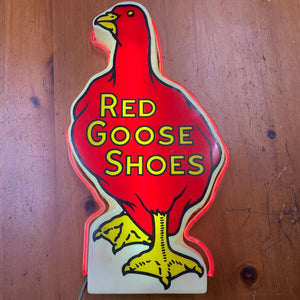 "Vintage ""Red Goose Shoes"" Neon Sign"