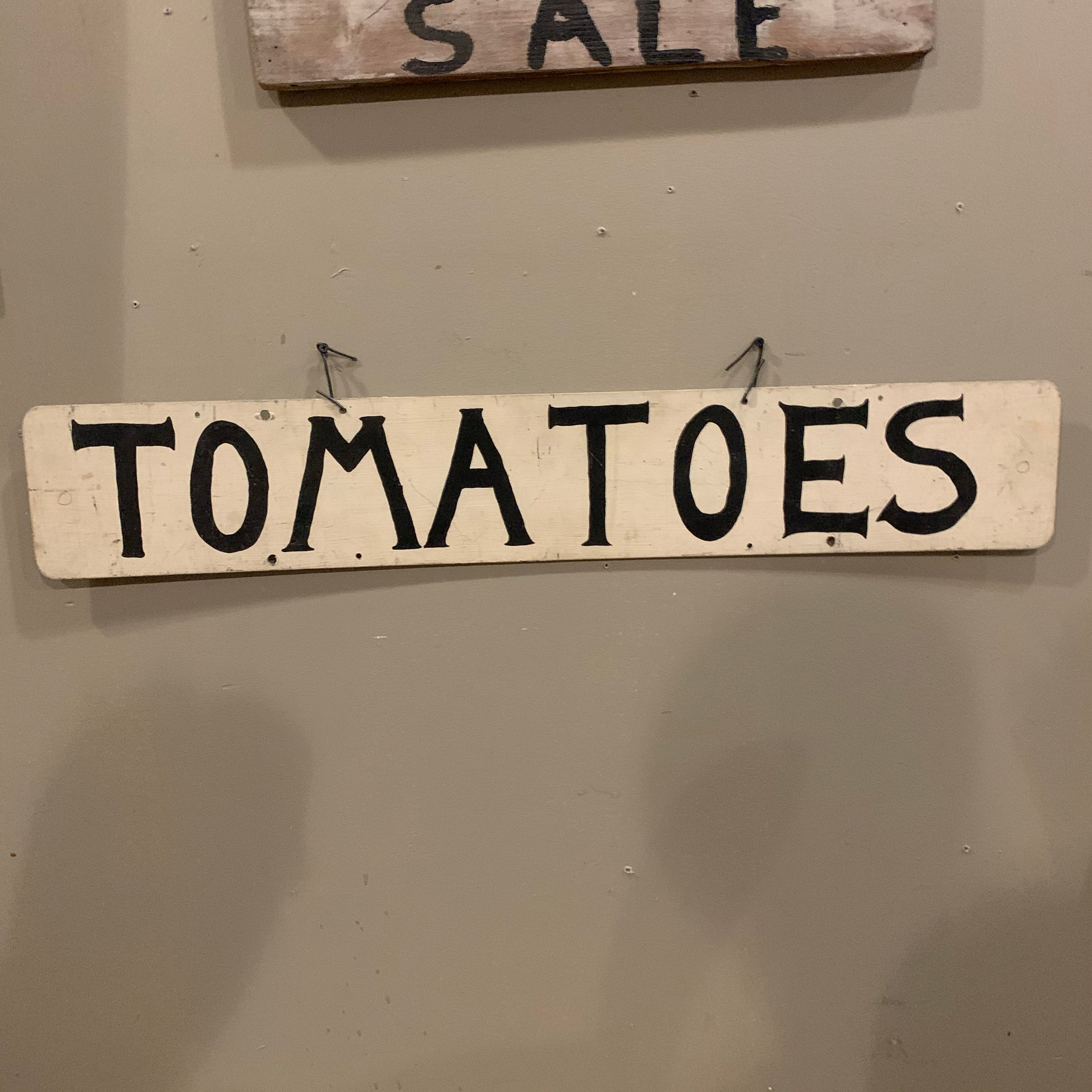 "Fun, Vintage Tin ""Tomatoes"" Sign"
