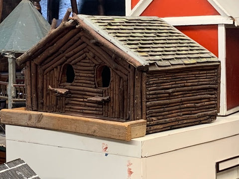 Great vintage Adirondack bird house