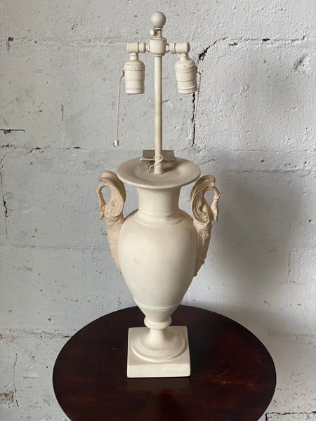 Vintage 1950's Bisque urn table lamp