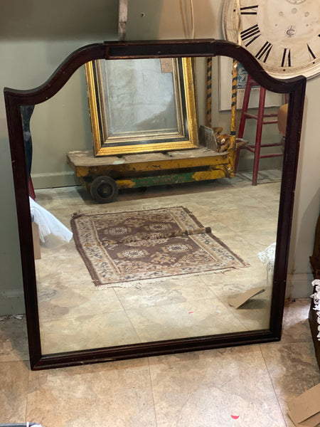 Fun mid century mustache top mirror