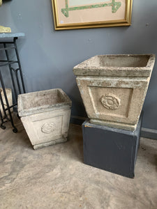 Custom order pair of antique planters including delivery