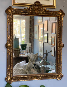 Vintage Gilded French Mirror C 1920