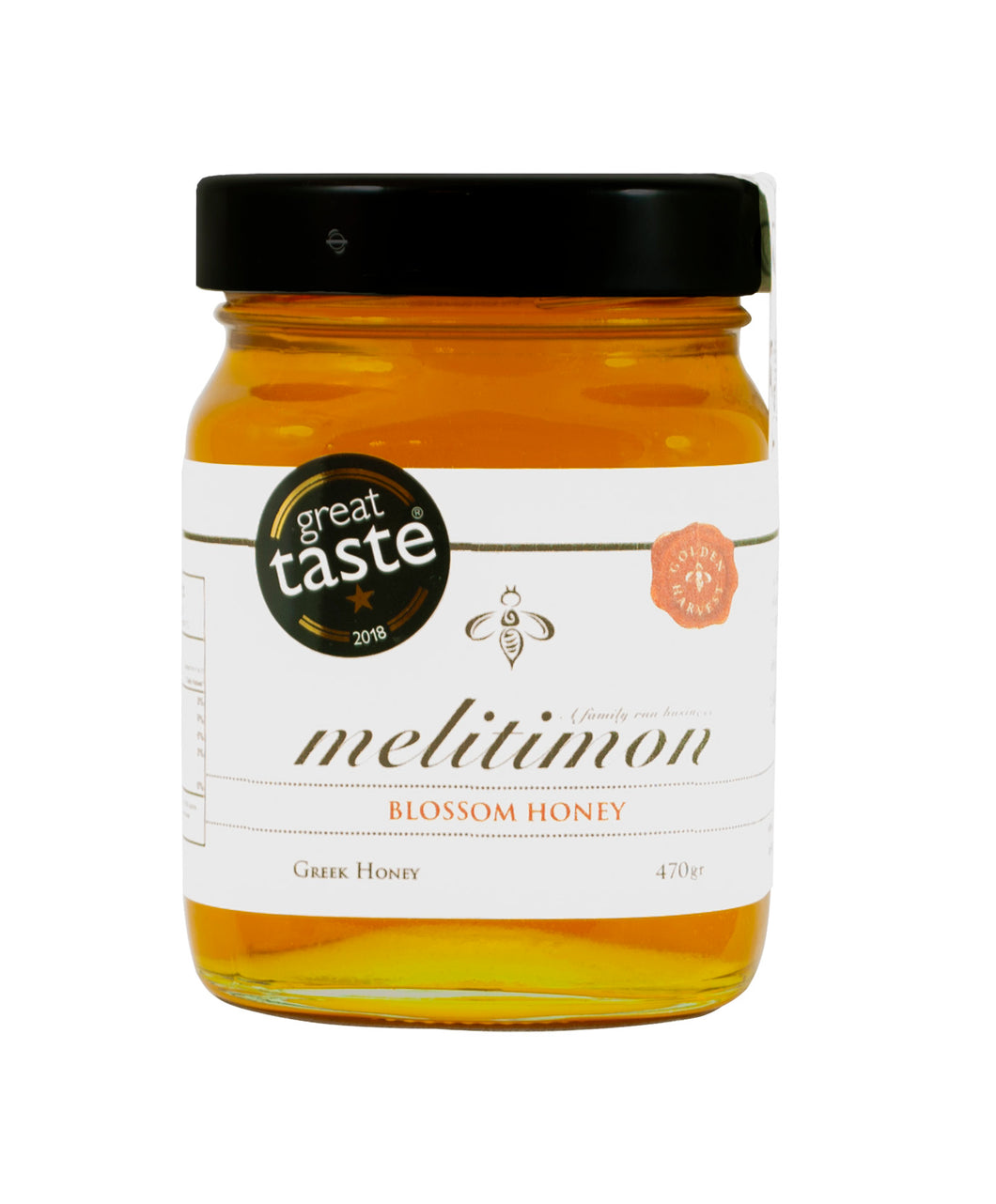 Melitimon Greek Blossom Honey, 470 gr Glass jar