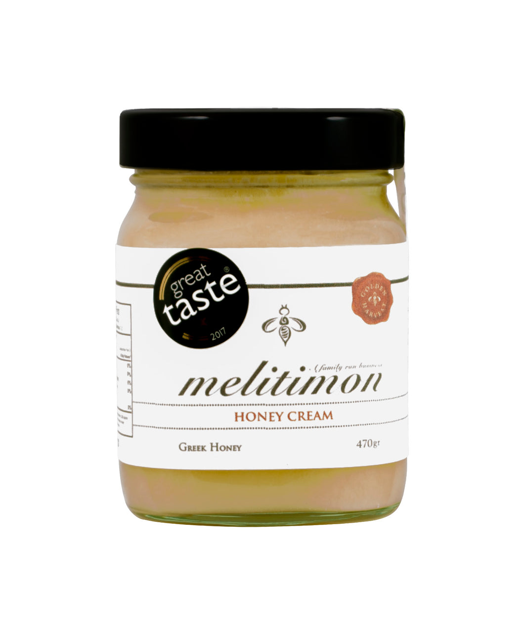 Melitimon Greek Honey Cream, 470 gr Glass jar