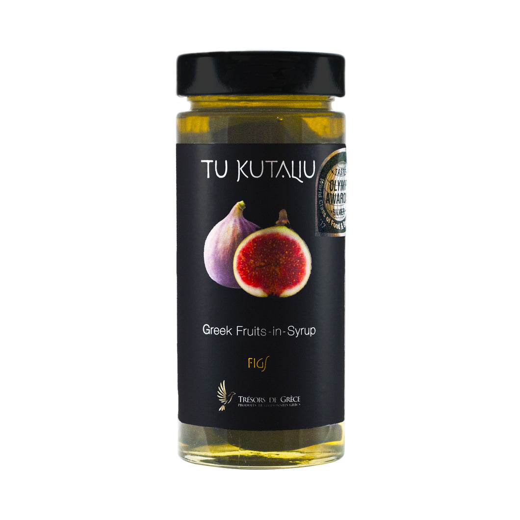 Tu Kutaliu, Greek Sweet Fruit Preserve in Syrup, Figs , Net weight 400, Glass jar