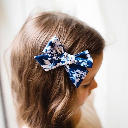 Girls Hair Bows Light Blue Sailor Bow Bow For Tea Party French Tea Party Bow