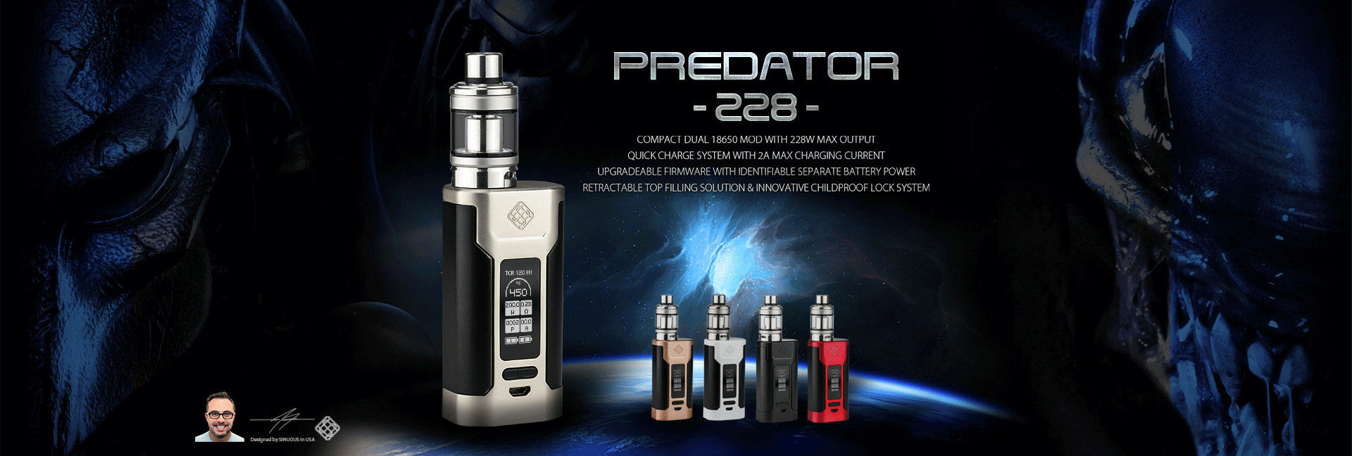 Wismec Predator 228 with Elabo