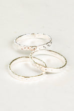 2.5MM HAMMERED STACKING RING