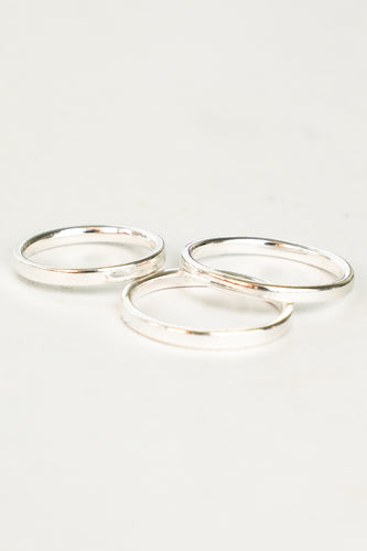 2MM SILVER STACKING RING