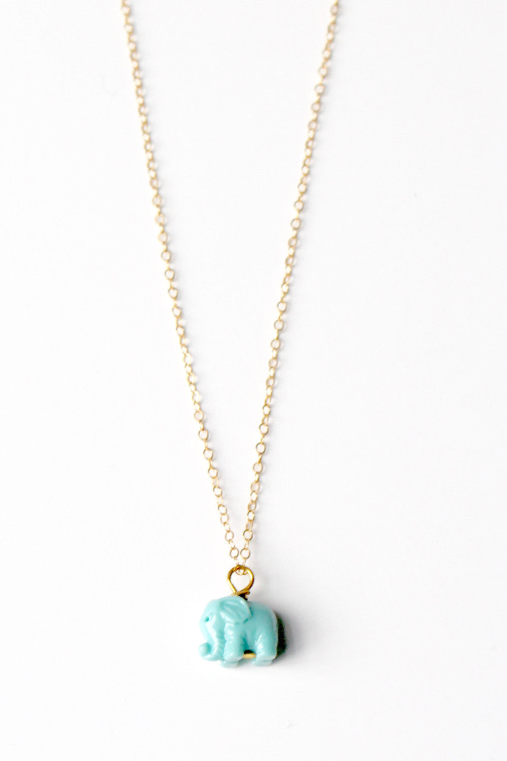 Good Luck Elephant Necklace • Teal