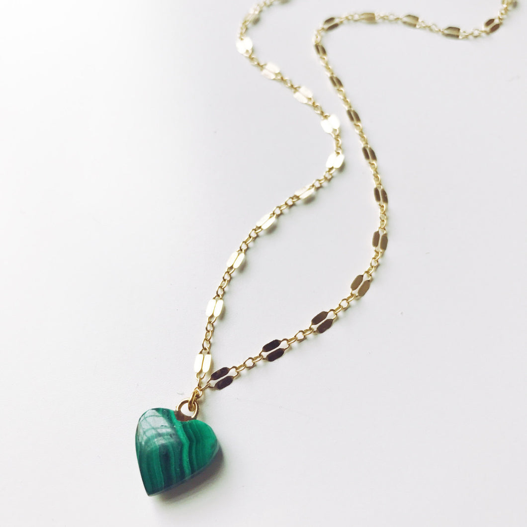 Heart of Abundance | Malachite Short Layering Necklace