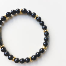 Negativity Shield Stacking Bracelet | Black Obsidian