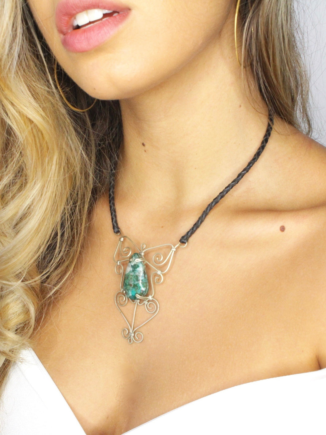 COMMUNICATION STONE • Chrysocolla Necklace