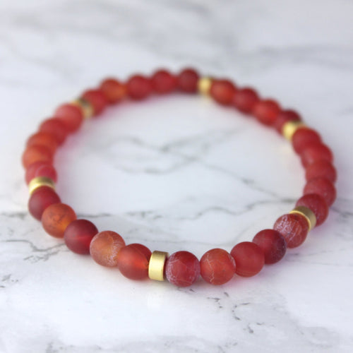 Root Chakra Empowerment | Fire Agate Bracelet
