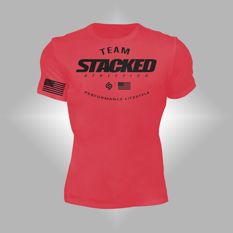 Team Stacked red