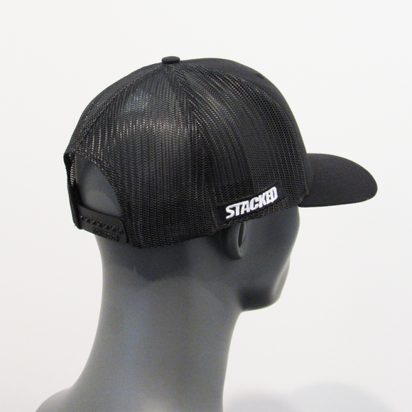 "Twisted ""S"" Trucker Blk/Blk"
