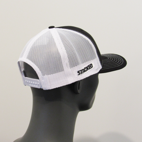 "Twisted ""S"" Trucker Blk/Wht"
