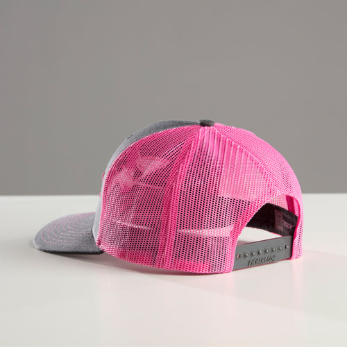 NEW Stacked pink/grey snap back