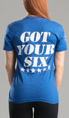 Tee Ladies Got Your 6 Military blue