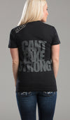 Tee Ladies Can't fake strong black