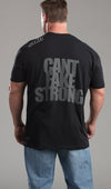 Tee Mens Can't fake strong black