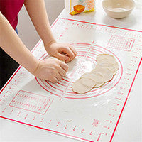 "Pastry Mat - 26"" x 17"" with measurements and conversion charts"