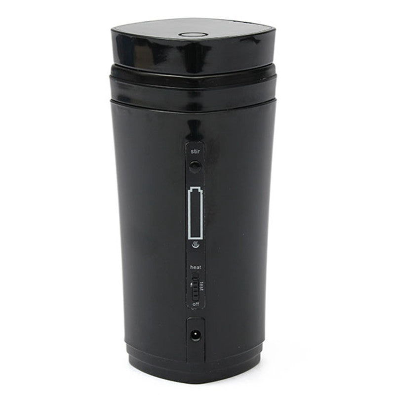 130ml Portable & Rechargeable Coffee/Tea Mug Warmer - Self Stirring & Auto Mixing Mug