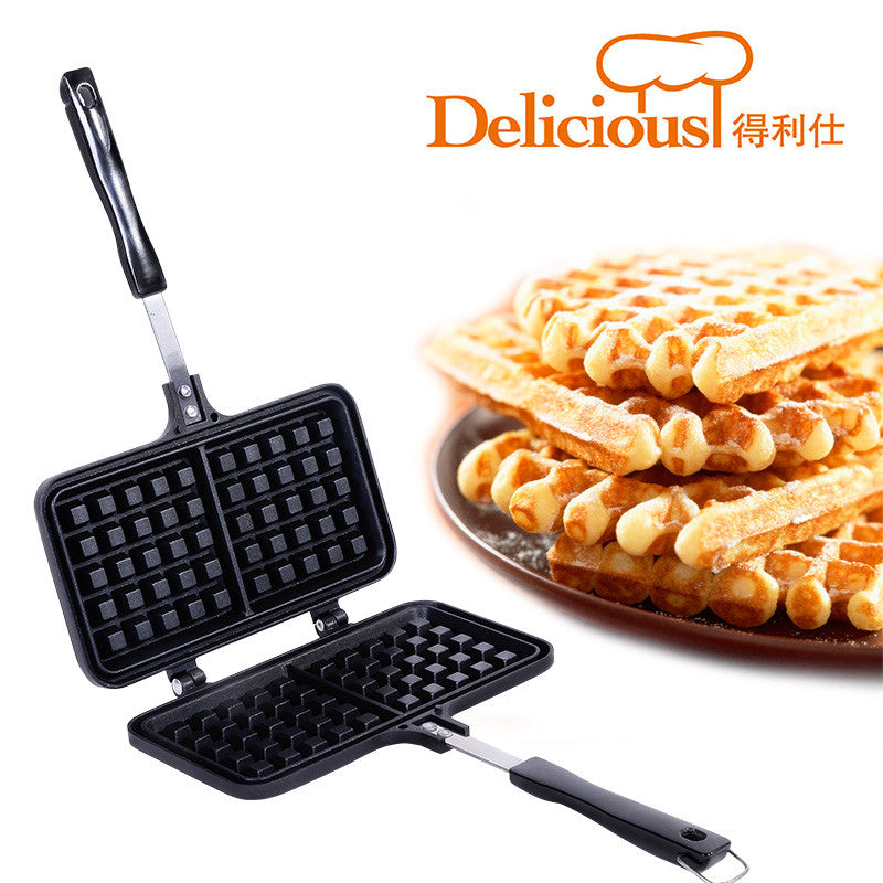 2 Grid Waffle Mold - Nonstick
