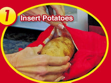 Red Washable Baked Potato Microwave Bag Baked