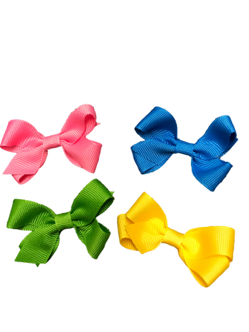 Baby Clip Bow- Solid Colors
