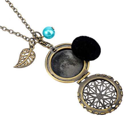Antique Locket Aromatherapy Necklace