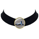 Black Velvet Sea Turtle Choker Necklace