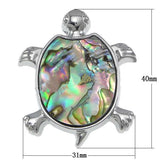 Natural Abalone Turtle Charm Pendant for Necklace or bracelet
