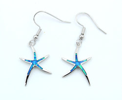 Starfish Fire Opal Hook Earrings
