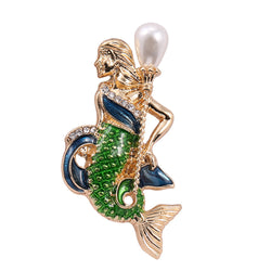 New Ocean of Love Mermaid Brooch