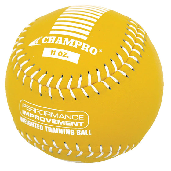 Champro Weighted Training Softball, 12in, 11oz, Yellow