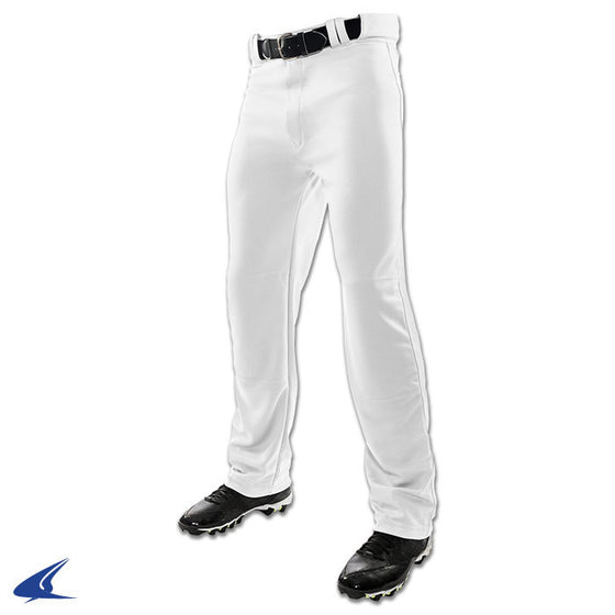 Champro Open Bottom Relaxed Fit Mens Baseball Pant, White