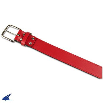 Champro Adult Leather Baseball Belt, Red