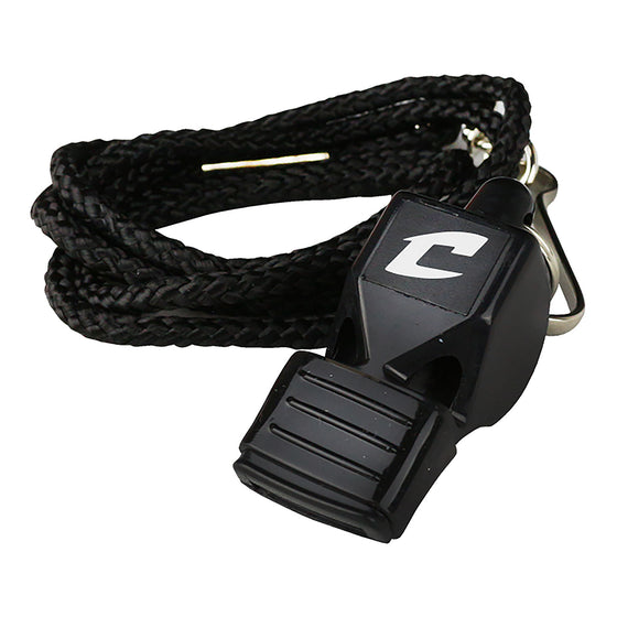 Champro Official's Whistle with Lip Cushion and Lanyard