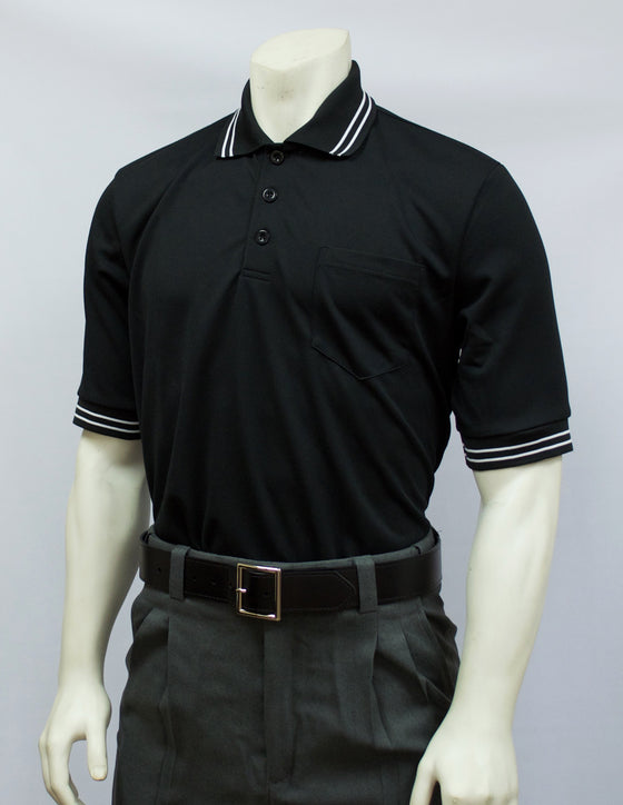 Smitty Short Sleeve Umpire Shirt, Black