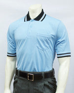 Smitty Short Sleeve Umpire Shirt, Powder Blue / Black Trim