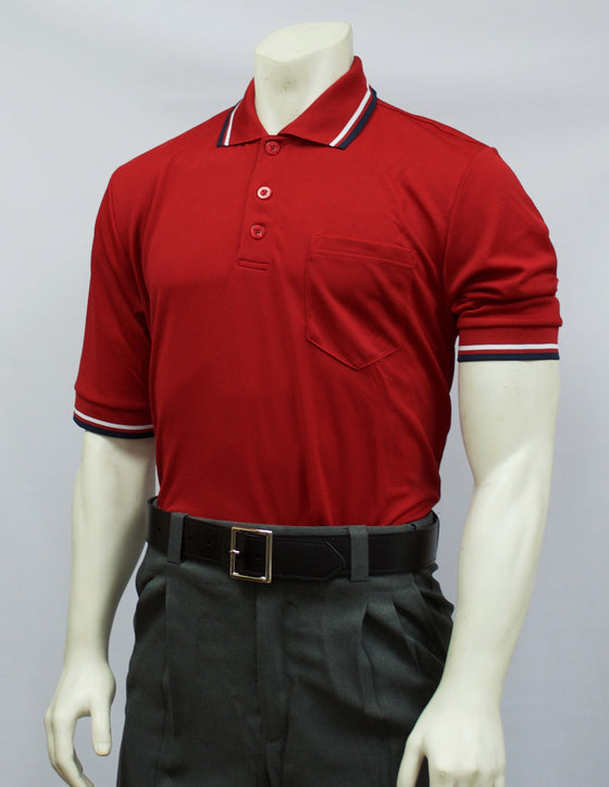 Smitty Short Sleeve Umpire Shirt, Red