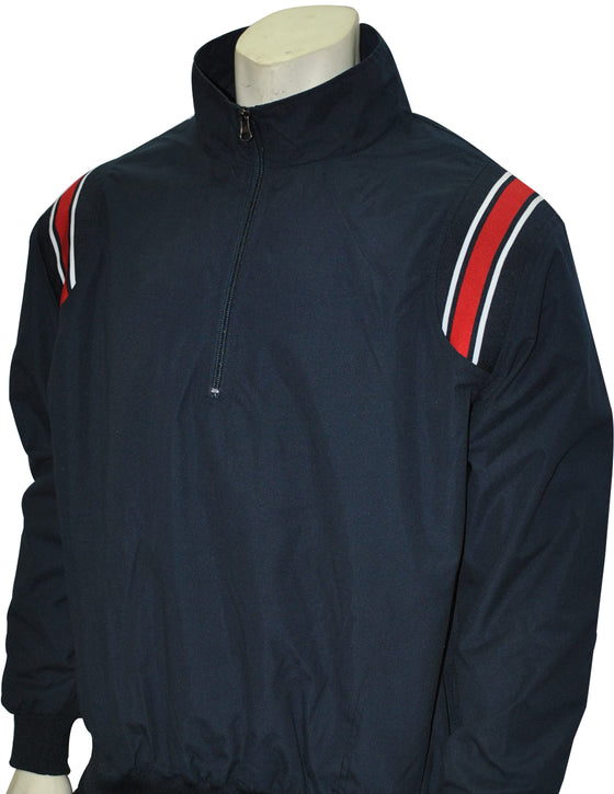 Smitty Umpire Jacket - Pullover Long Sleeve - Navy/Red