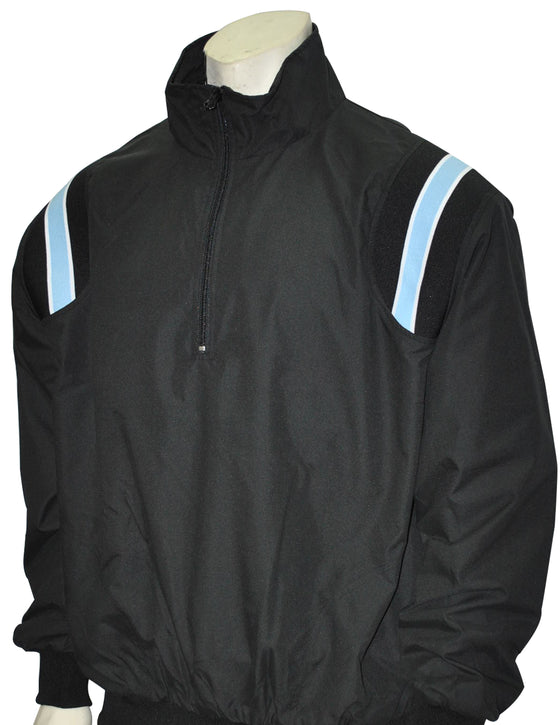 Smitty Umpire Jacket - Pullover Long Sleeve - Black/Powder Blue