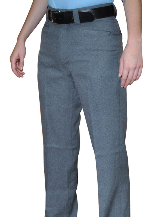 Smitty Womens Flat Front Umpire Combo Pants - Heather Grey