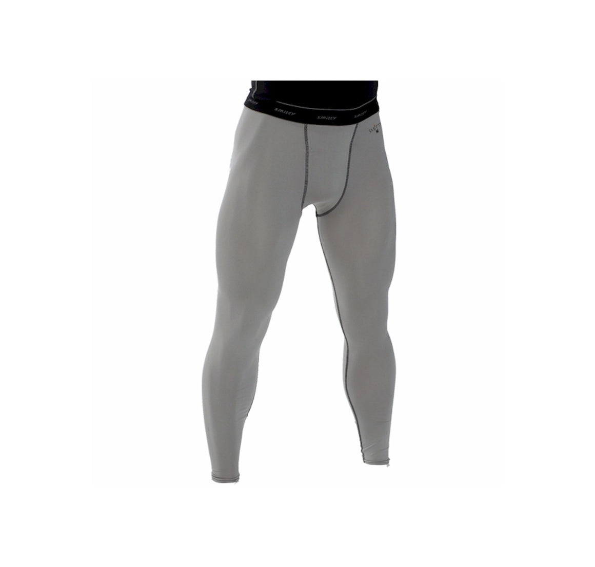 Smitty Grey Compression Tights w/ Cup Pocket - Grey